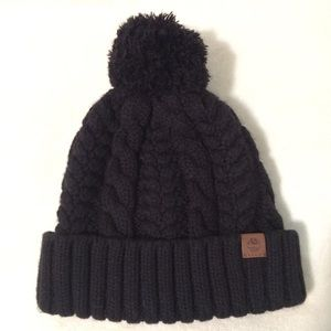Timberland cable knit Pom hat
